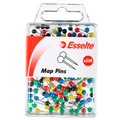 Esselte Map Pins Assorted Colours Pk/200
