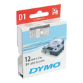 Dymo D1 White on Clear Tape 12mm x 7m SD45020