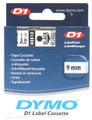 Dymo D1 Black on Clear Tape 9mm x 7m SD40910