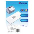 UNISTAT 38940 Laser Inkjet & Copier Labels 297 x 210mm 1 Label/Sheet 100 Labels/Pk With Backslit