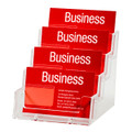 Esselte Business Card Holder Free Standing Landscape 4 Tier - 4 Compartments