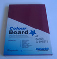 Colourboard Maroon A4 210x297mm 50/Pack