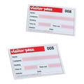 Rexel Visitors Book Refills 100 badge inserts White 900391