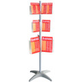 Esselte Floor Carousel Brochure Holder Display Stan 3 Level DL, A5, A4, 24 compartments