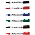 Artline 550A Whiteboard Marker 1.2mm Bullet Assorted 12/Pack