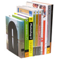 Marbig Rounded Book Ends Grey 140mm (W) x 110mm (D) x 221mm (H)