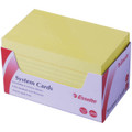 Esselte System Cards Yellow (5x3) 76x127 Pk/300