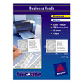 Avery 959025 L7414 Laser Inkjet Business Cards Microperforated Matt 150gsm Pack 200