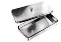 INSTRUMENT TRAY WITH LID, 300X200X50MM,18/10 STAINLESS STEEL + SILICONE MAT