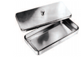 INSTRUMENT TRAY WITH LID, 500X270X70MM,18/10 STAINLESS STEEL + SILICON MAT