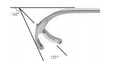 ANTRUM GRASPING FCPS., RETROGRADE OPEN.,JAWS 155°, FIXED JAW 140° CURVED DOWNW.WL 10 CM, FOR ENDONASAL REMOVAL OF CYSTS