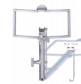 LARS LARYNX ADVANCED RETRACTOR SYSTEMBY REMACLE-LAWSON. BASIC FRAME WITHFULL BLADE MOVEMENT (GEAR)MODULAR DESIGN ALLOWS ATTACHMENT OF DIFFERENT TONGUE BLADES AS WELL AS CHEEK HOLDERS, LIGHT AND SMOKE EVACUATION TUBE
