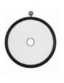 HEAD MIRROR BY ZIEGLER ONLY,  90 MM,W.RUBBER COATING