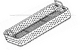 Wire Mesh Sterilization Tray, 480 x 254 x 50mm