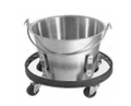 Kick Bucket With Roll Stand Set, Complete Capacity 16 Quarts