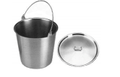 "Solution Pail W/Cover, 13 Qt., 11-5/8"" x 9-1/4"", (29.5cm x 23.5cm)."