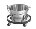 Kick Bucket With Roll Stand Set, Complete Capacity 13 Quarts..