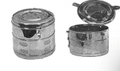 "Dressing Drum, Horizontal Ventilation, 9"" x 6"", (22.9cm x 15.2cm)."