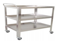 Instrument Trolley/Utility Cart, Small, 75cmLx50cmWx90xcmH ROLLING CART - THREE SHELVES