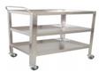 Instrument Trolley/Utility Cart, Large, 91cmLx52cmWx120xcmH ROLLING CART - THREE SHELVES
