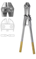 "Pin Cutter, Side Cutting TC W/Adjustable bolt, cuts 6mm wire, (45.1cm) (706-608)17-3/4"" Tungsten Carbide"