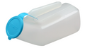 Translucent Male Urinal w/Blue Cover 0.95 liter