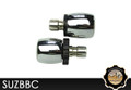 KAOKO Motorcycle Throttle Stabilzers for Suzuki VL800C (incl matching left hand side Bar-End Weights : Barrel shape with chrome finish)