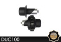 KAOKO Motorcycle Throttle Stabilzers for Ducati Monster 1100 ABS (2010-) (including matching left hand side Bar-End weight : black finish) For Models with 168mm ID handle bars