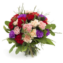 Flower arrangement composed by carnations.