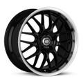 Enkei Lusso 18x9 40mm Offset 5x1114.3 72.6 Bore Black w/ Machined Lip Wheel