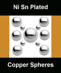 Plated Copper Core Spheres
