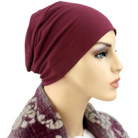 BURGUNDY BAMBOO ACTIVITY CHEMO CAP