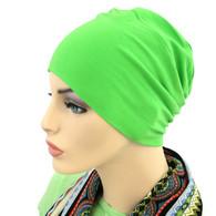 GREEN SPLASH CHEMO CAP