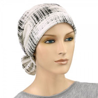 BLACK SILVER LINES TWO WAY CHEMO CAP