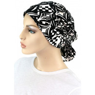 BLACK AND WHITE TWO WAY CHEMO CAP