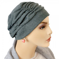CHARCOAL SHIRRED CAP