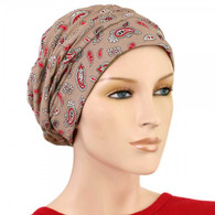 PAISLEY ACCENT SHIRRED CAP