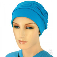 BLUE SHIRRED CAP
