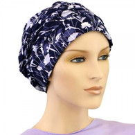 FLOWERS PATTERN SHIRRED CAP TURBAN