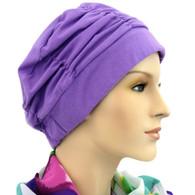 LAVENDER SHIRRED CAP