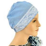 BLUE COTTON SLEEP CAP