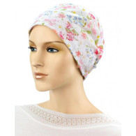 COTTON CHEMO SLEEP CAP FLOWER FIELDS NIGHT CAP