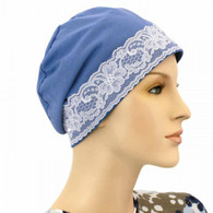 100% COTTON DENIM BLUE SLEEP CAP