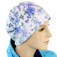 100% COTTON SLEEP CAP CORNFLOWERS