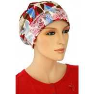 CHEMO SLEEP CAP FUCHSIA ABSTRACT