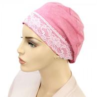 PINK TRI-BLEND SLEEP CAP