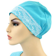 SUMMER BLUE COTTON SLEEP CAP