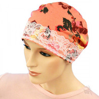 PEACH FLOWERS SLEEP CAP