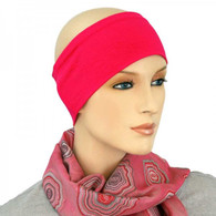 HOT PINK COTTON HEADBAND