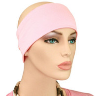 EXTRA WIDE COTTON LIGHT PINK HEADBAND